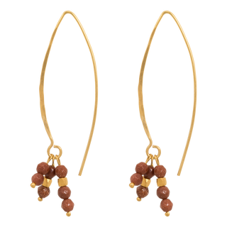 nous earrings cognac - pict. 1