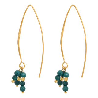 nous earrings green gold - afb. 1