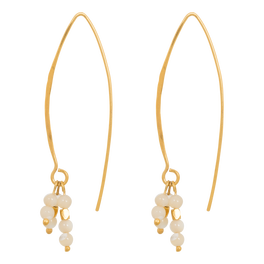 nous earrings white